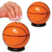 "Basketball 3 1/2"" Sports Bank - 12 Pack"