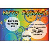 Birthday Circles Personalized Invitations