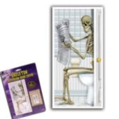 Skeleton Bathroom Door Cover