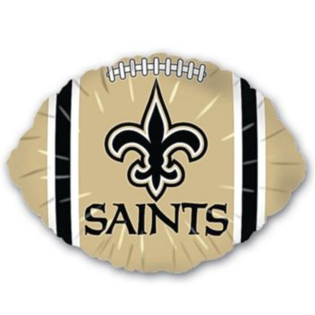 New Orleans Saints Football Metallic Balloon - 18 Inch