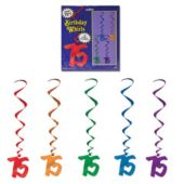 75 Whirl Decorations-5 Pack