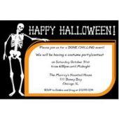 Halloween Bones Custom Invitations