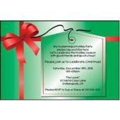 Christmas Gift Wrap Personalized Invitations