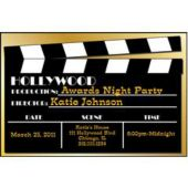 Hollywood Clapboard Personalized Invitations