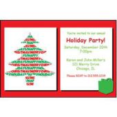 Merry Christmas Tree Personalized Invitations