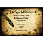 Halloween Parchment Personalized Invitations