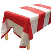 Red & White Stripe Table Cover