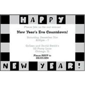 New Year's Squares Personalized Invitations`