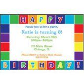Happy Birthday Squares Personalized Invitations