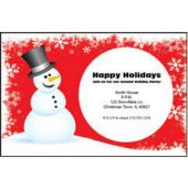Red Snowman Personalized Invitations