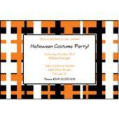Black Orange Geometric Personalized Invitations