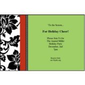 Holiday Sophistication Personalized Invitations