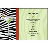 Xmas Martinis Personalized Invitations