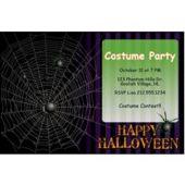 Halloween Spider Web Personalized Invitations