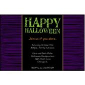 Halloween Holiday Personalized Invitations