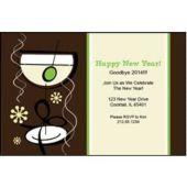 Funky Martini Personalized Invitations