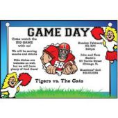 Game Day  Personalized Invitations