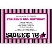 Sweet 16 Pink Personalized Invitations