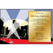 Hollywood Red Carpet Personalized Invitations