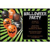 Halloween Green Personalized Invitations