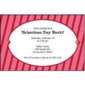 Valentine's Stripe Personalized Invitations