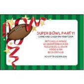 Football Stripe Personalized Invitations