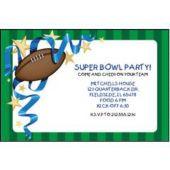 Football Sunday Personalized Invitations