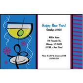 Blue Martinis Personalized Invitations
