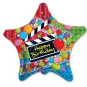 "Movie Star Birthday 18"" Balloon"