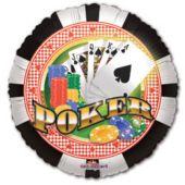 """Poker Chips Metallic 18"""" Balloon"""