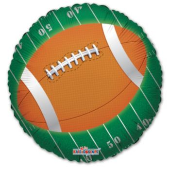 Football Game Day Metallic Balloon - 18 Inch