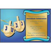 Hanukkah Dreidel Personalized Invitations