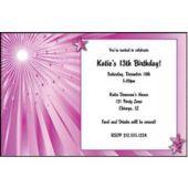 Pink Starburst Personalized Invitations