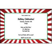 Xmas Candy Cane Personalized Invitations