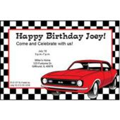 Red Hot Rod Personalized Invitations