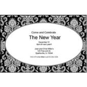 Mosaic Scroll Personalized Invitations