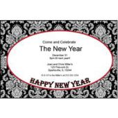 New Year Red Mosaic Personalzied Invitations