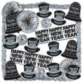 Silver Shimmer New Year Decorating Kit