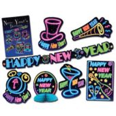 Neon New Year's Eve Decorating Kit