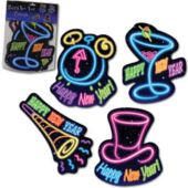 New Years Neon Cutouts-5 Pack
