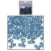 It's A Boy Blue Metallic Confetti