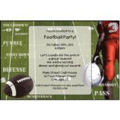 Football Playoffs Personalized Invitations