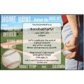 Baseball Playoffs Custom Invitations
