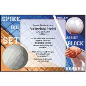 Volleyball Game Personalized Invitations