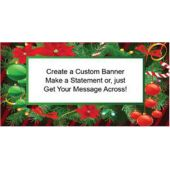 CHRISTMAS HOLLY CUSTOM BANNER (Variety of Sizes)