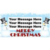 SNOWMAN CHRISTMAS CUSTOM BANNER (Variety of Sizes)
