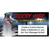 BLOODY MARY HALLOWEEN CUSTOM BANNER