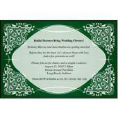 Green Kaleidoscope  Personalized Invitations