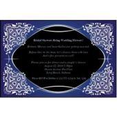 Blue on Black Kaleidoscope Personalized Invitations