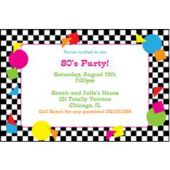 Awesome 80s Personalize Invitations